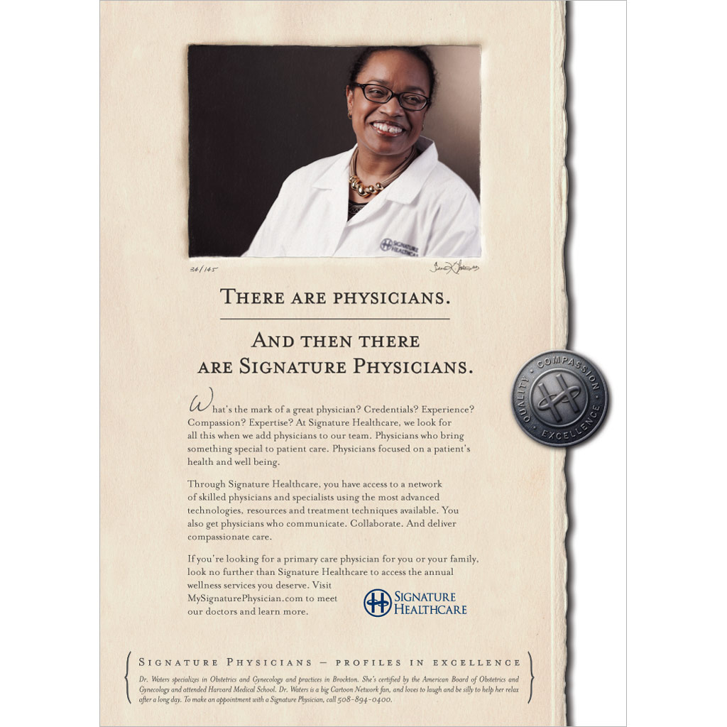 Signature-Healthcare-Physicians-Campaign-Waters-Print-Ad